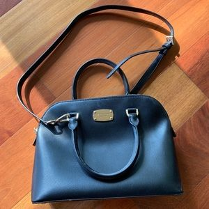 Michael Kors Black Zip Satchel